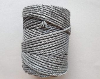 5 mm   3ply   Dark grey   Macrame Rope   Macrame cord tangling