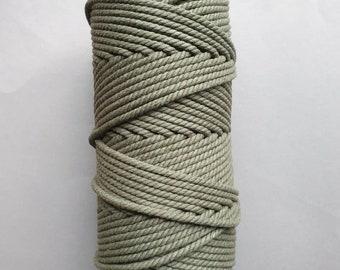 5 mm   3ply   Avocado   Macrame Rope   Macrame cord tangling