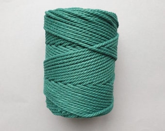 5 mm   3ply   Waldgruen   Macrame Rope   Macrame cord tangling