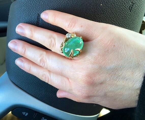 BIG Emerald BRUTALIST 18.69Ct Emerald TALL Beryl c