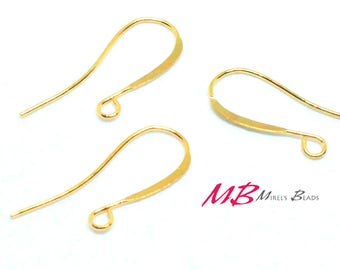 48 pcs Gold Plated Ear Wires, Fish Hook For Earrings