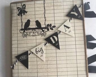THE BIG DAY paper bag album, 6x6 photo album, handmade, perfect for wedding gift!