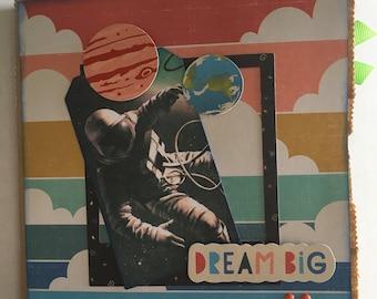 DREAM BIG paper bag album, 6x6 photo album, just add photos for a motivation/ inspirational gift.