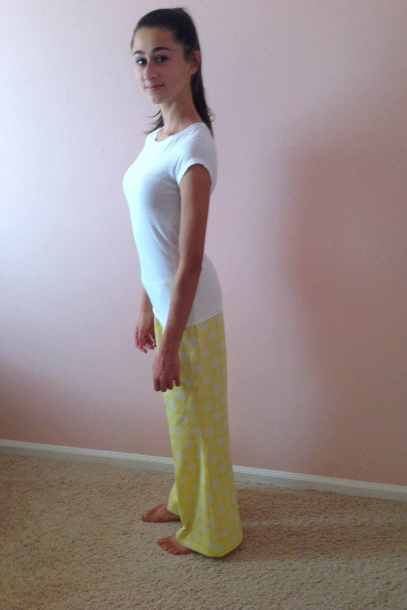 Build Me Up Buttercup Yellow Polyester Bell Bottoms with Floral Print
