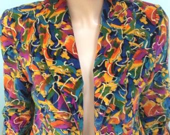 Vintage Crop Jacket,Size S-M,Valore Velvet Jacket