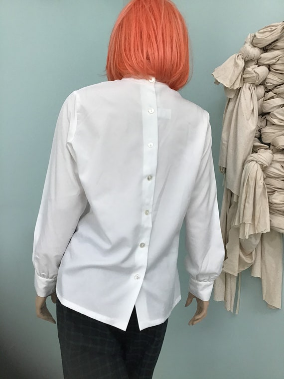 Vintage Ruffled White Blouse,Size 16.Victorian St… - image 5