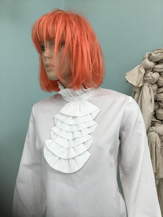 Vintage Ruffled White Blouse,Size 16.Victorian St… - image 1