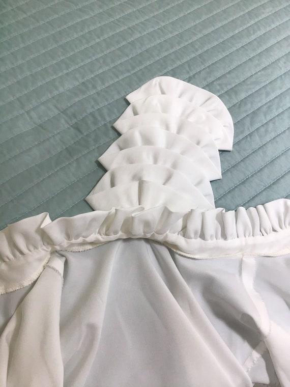 Vintage Ruffled White Blouse,Size 16.Victorian St… - image 6