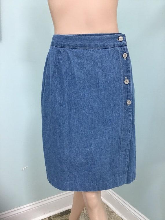 Denim Skirt,Size M, Blue Jean Skirts, Denim Wrap S