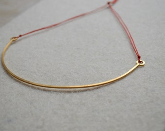 Necklace / short necklace square thread. 14k gold filled