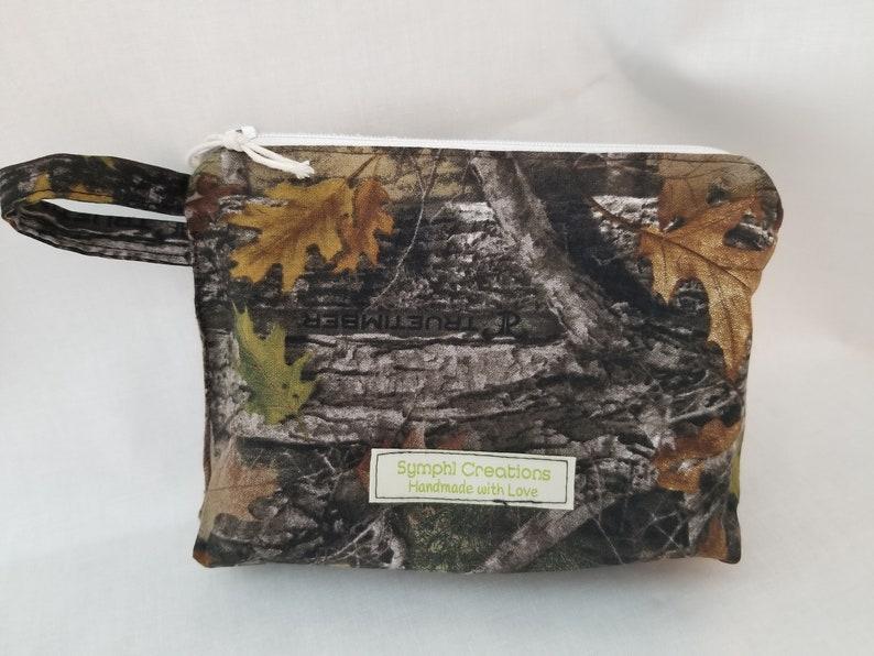 Camoflage Reusable Sandwich Size Zipper Bag  Waterproof Food Safe Procare lined  Zero Waste Pouch  Washable Sacks  Eco Friendly
