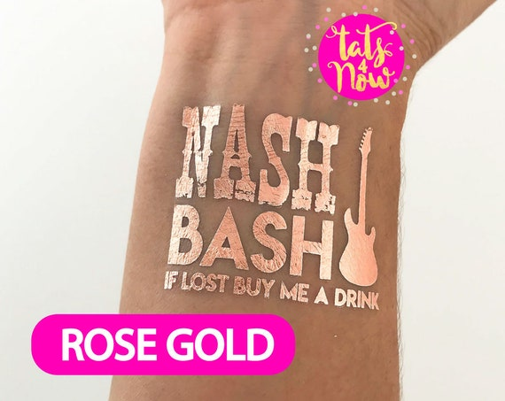 Rose gold nashville nash bash nashelorette party favor tattoos, Rose gold party favors, nash bash rose gold tattoos, nashville party