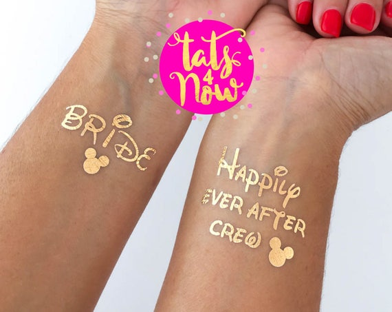 Happily Ever After Crew + Bride Gold Tattoos