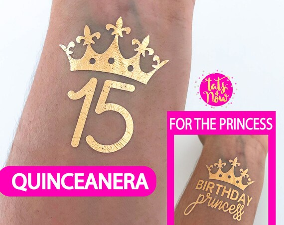 15th birthday party mis quince quinceanera party favors fifteen 15th party gold favors birthday princess , quinceanera party for her 15th