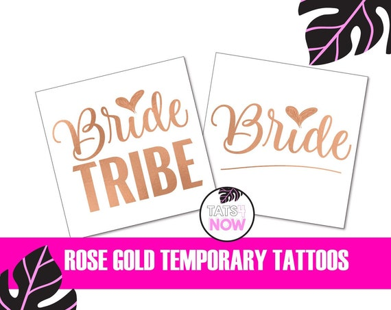 Rose gold bride tribe