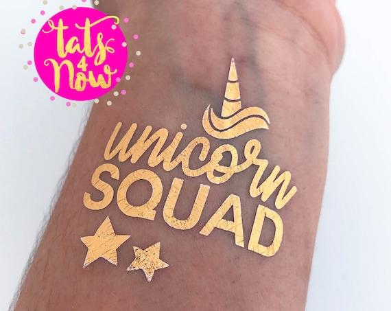 Unicorn Squad + Unicorn Bride Gold Tattoos