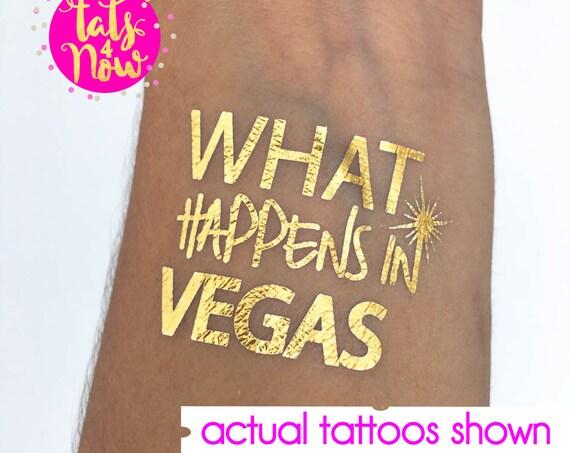 Las Vegas Birthday // Birthday tattoos // What happens in Vegas // gold Tattoos // temporary tattoos // fun birthday idea // birthday favor