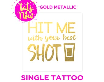 21st Birthday Gift For Her Funny Finally 21 Gold Temporary Tattoo Tats4now