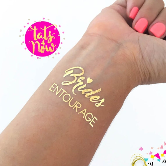 Brides Entourage + Bride gold tattoos