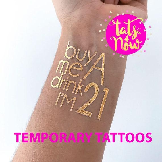 twenty one, finally legal, 21st birthday gift for her, birthday gift for her, 21st birthday party tattoo, finally 21, birthday party tattoo