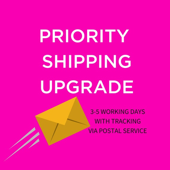 Shipping Upgrade - Priority shipping 3-5 Working days - via United States Postal service with tracking