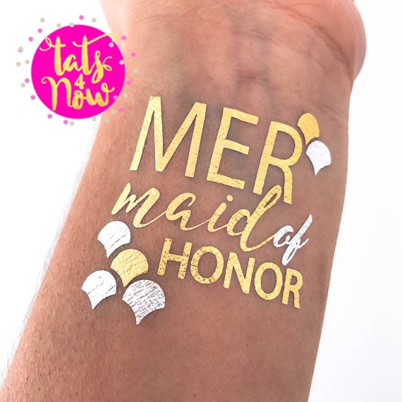 Mermaid of Honor + Mermaid + Bride Tattoos