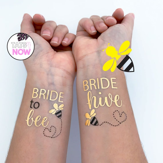 Bride to bee bachelorette, Bride hive and bride to bee party favors, bee party tattoos