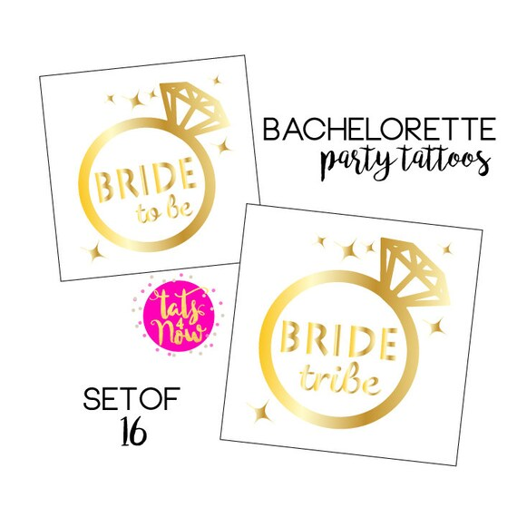Shiny gold temporary tattoos, so fun and easy to apply, great addition to your bachelorette party!