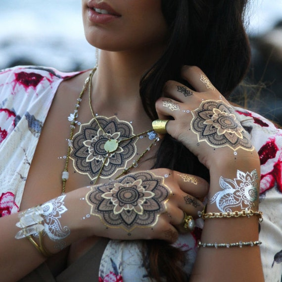 Girls night out Glam temporary tattoos, Henna Dreams