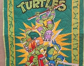 Teenage Mutant Ninja Turtles Quilt Toddler Baby Blanket FREE SHIPPING!