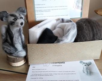 Diy needle felting Cat kit, diy cat kit, Needle Felting Kit, DIY Kit, Craft Kit, Felting Supplies, Needle Felted