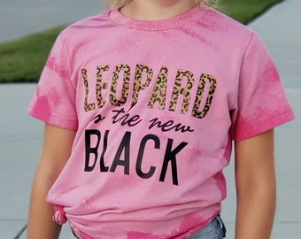 Leopard Is the New Black Bleached Pink Shirt