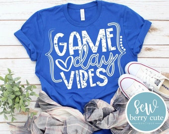Game Day Vibes, Baseball, Football, Soccer T-Shirt