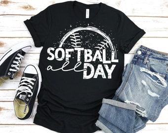 Softball All Day T-shirt, Softball Mom, Softball Grandma