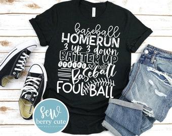 Baseball T-Shirt, Baseball Mom, Ball Mom