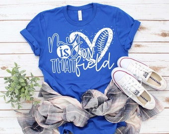 My Heart is on That Field Baseball/Softball T-shirt, Softball Mom, Baseball Mom, Sports Mom