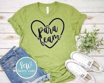 Para Team, Graphic Tee, Teacher T-shirt