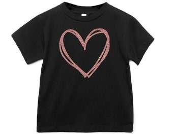 Girls Valentine Shirt, XOXO