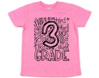 3rd Grade T-shirt, First Day of School