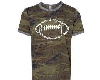 Game Day, Youth Camo Football Shirt