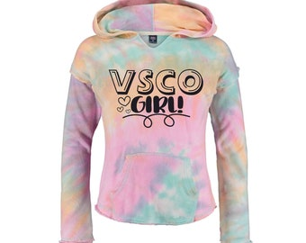VSCO Girl Hoodie Tie Dye Hoodie, Youth and Adult Sizes