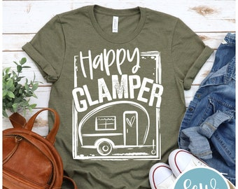 Happy Glamper, Camping T-shirt