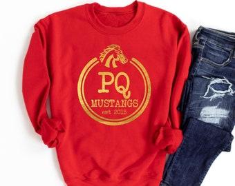 GOLD FOIL PQ Mustangs Sweatshirt