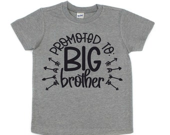 Big Brother Shirt, Pregnancy Announcement, Baby Shower Gift, Gender Reveal