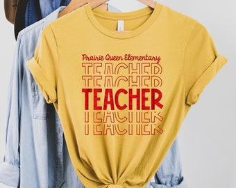 RED FOIL Prairie Queen Elementary Teacher