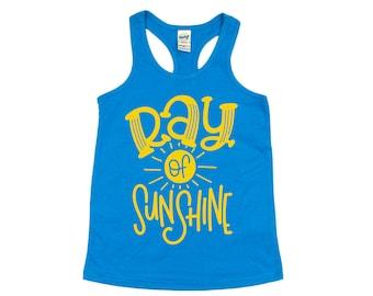 Ray of Sunshine Tank Top, Summer Shirt