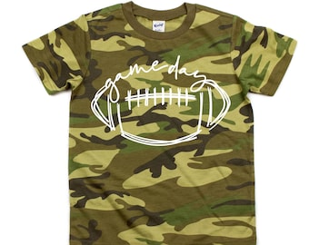 Game Day, Camo Kids Football Shirt