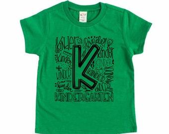 Kindergarten Shirt, Back to School Shirt