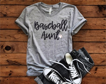 Baseball Aunt Shirt, Baseball Aunt T-shirt, Baseball Mom, Aunt Shirt, Baseball Aunt