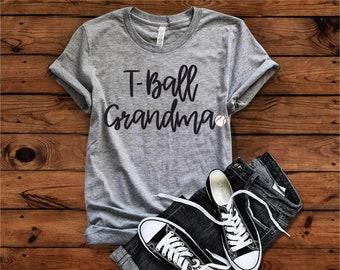 T-ball Grandma Shirt, Tee ball Mom T-shirt, T-ball Mom, Tee Ball Mom, Baseball Mom, Grandma, Mother's Day Gift